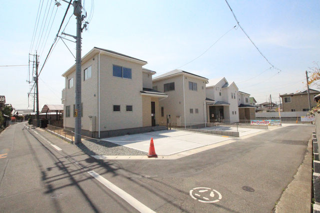 岡山県岡山市東区東平島の新築 一戸建て 分譲住宅の外観写真