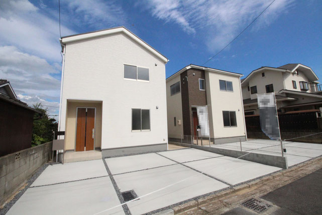 岡山県倉敷市福井の新築 一戸建て 分譲住宅の外観写真