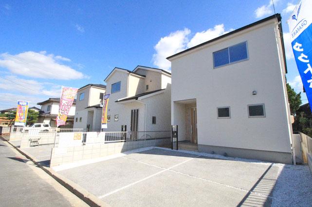 岡山県岡山市東区西大寺射越の新築 一戸建て 分譲住宅の外観写真