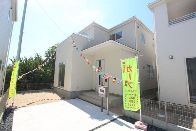 岡山県総社市井手の新築 一戸建て 分譲住宅の外観写真