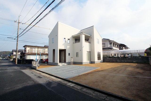岡山県倉敷市東粒浦の新築 一戸建て 分譲住宅の外観写真