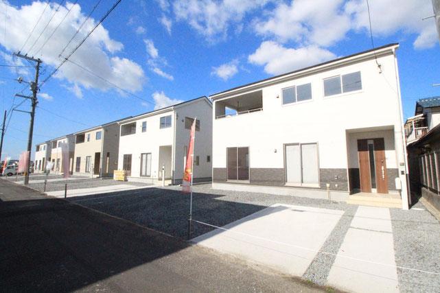 岡山県倉敷市児島下の町の新築 一戸建て 分譲住宅の外観写真