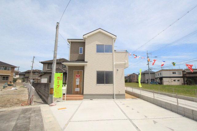 岡山県岡山市南区福田の新築 一戸建て 分譲住宅の外観写真