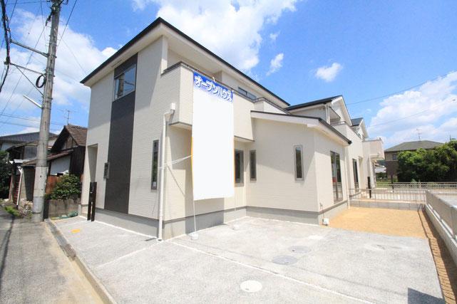 岡山市北区高松原古才の新築 一戸建て 分譲住宅の外観写真