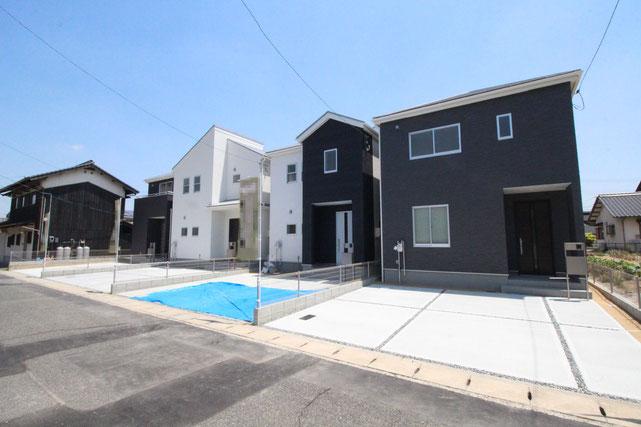 岡山県倉敷市連島5丁目の新築 一戸建て 分譲住宅の外観写真