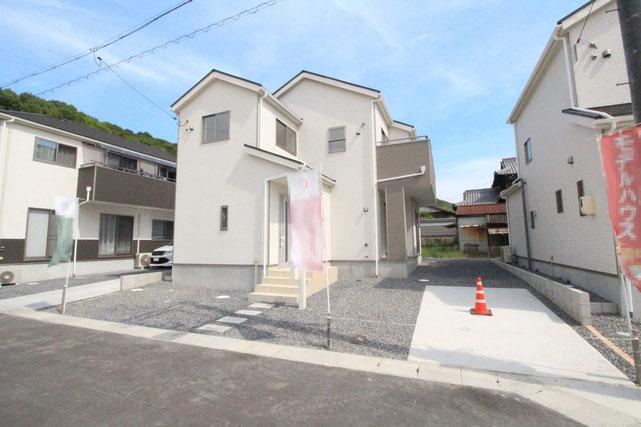 岡山県倉敷市児島塩生の新築 一戸建て 分譲住宅の外観写真