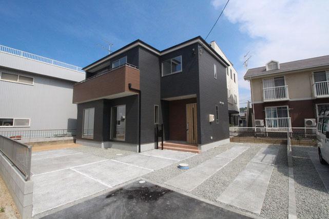 岡山県岡山市北区高柳西町の新築 一戸建て 分譲住宅の外観写真
