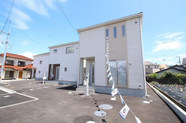 岡山県総社市真壁の新築 一戸建て 分譲住宅の外観写真