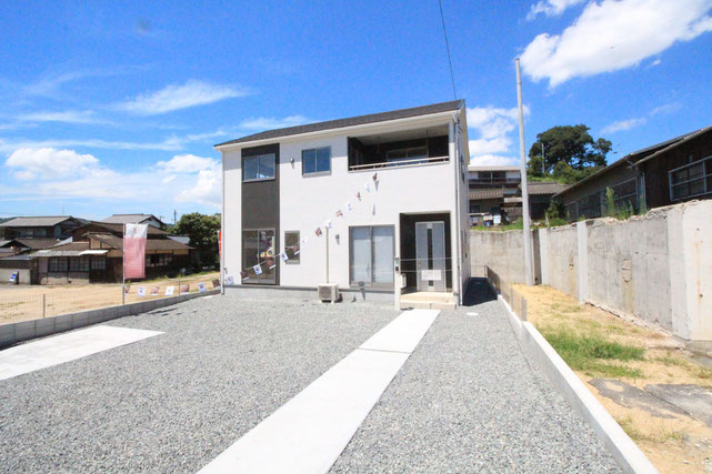 岡山県倉敷市児島上の町の新築 一戸建て 分譲住宅の外観写真