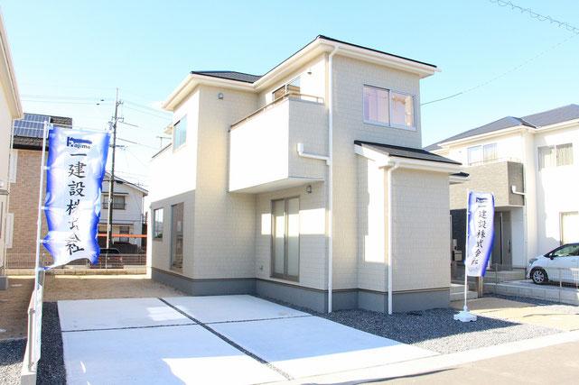 岡山市中区福泊の新築 一戸建て 分譲住宅の外観写真