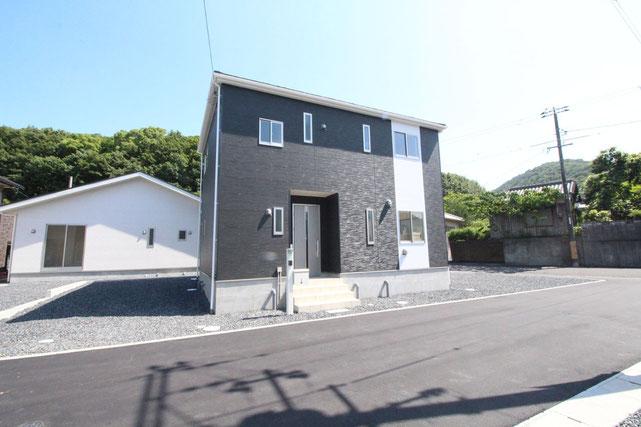 岡山県倉敷市福江の新築 一戸建て 分譲住宅の外観写真