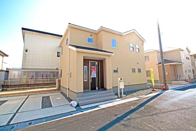 岡山県総社市地頭片山の新築 一戸建て 分譲住宅の外観写真