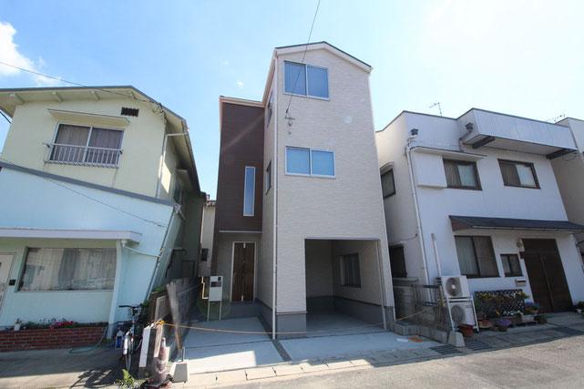 岡山県岡山市北区野田1丁目の新築 一戸建て 分譲住宅の外観写真