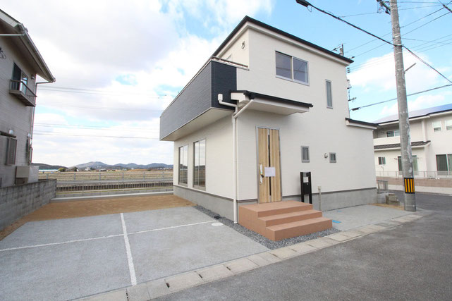 岡山県瀬戸内市邑久町豊原の新築 一戸建て 分譲住宅の外観写真