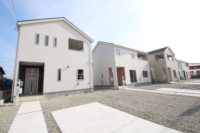 岡山県倉敷市亀島の新築 一戸建て 分譲住宅の外観写真