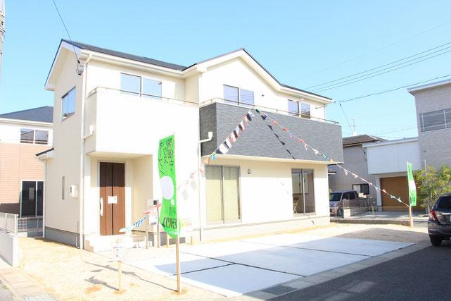 岡山市南区妹尾 新築一戸建て住宅 外観の写真