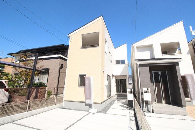 岡山県岡山市北区田中の新築 一戸建て 分譲住宅の外観写真