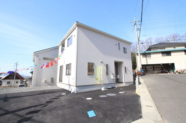 岡山県瀬戸内市邑久町北島の新築 一戸建て 分譲住宅の外観写真