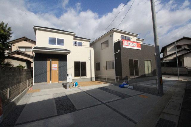 岡山市中区藤原光町の新築 一戸建て 分譲住宅の外観写真