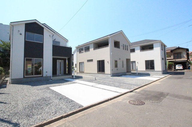 岡山県倉敷市中畝の新築 一戸建て 分譲住宅の外観写真