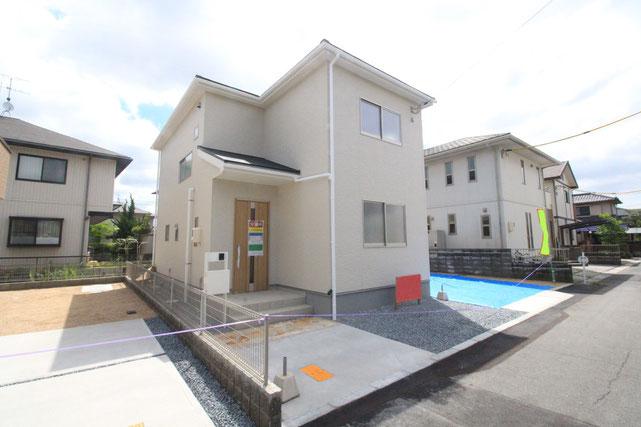 岡山市北区一宮の新築 一戸建て 分譲住宅の外観写真