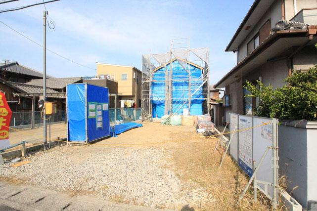 岡山県岡山市南区彦崎の新築 一戸建て 分譲住宅の外観写真