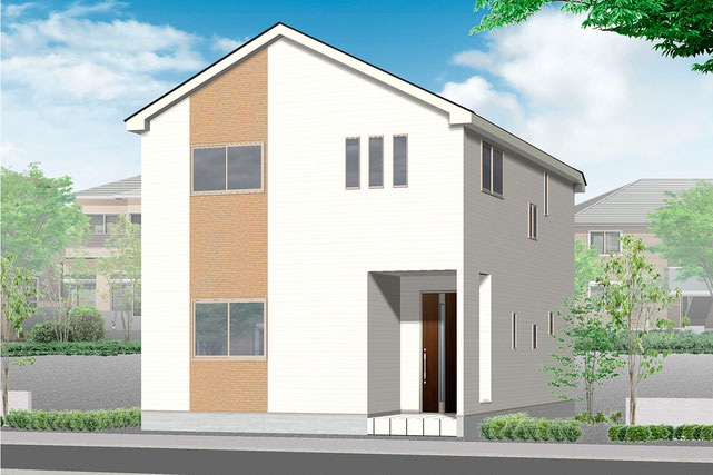 岡山県岡山市中区沢田の新築 一戸建て 分譲住宅の外観写真