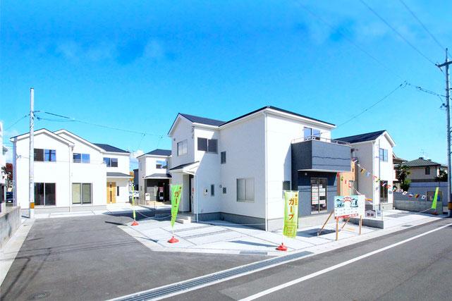 岡山市南区築港新町の新築 一戸建て 分譲住宅の外観写真
