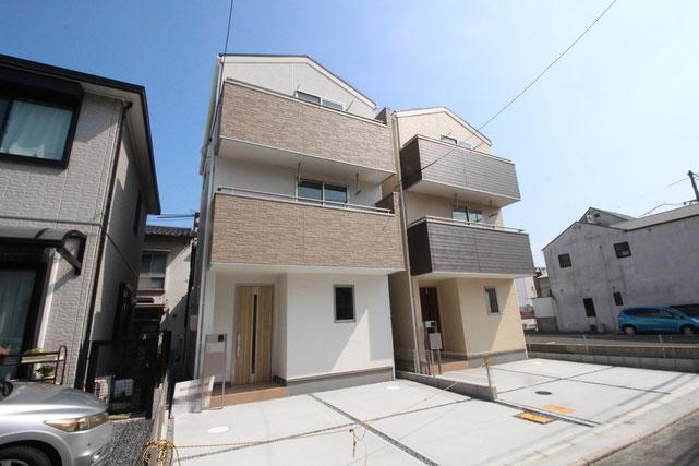 岡山県岡山市北区奉還町3丁目の新築 一戸建て 分譲住宅の外観写真