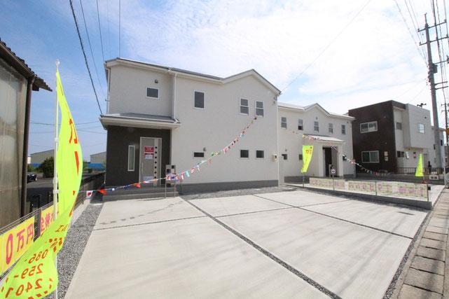 岡山県玉野市西田井地の新築 一戸建て 分譲住宅の外観写真