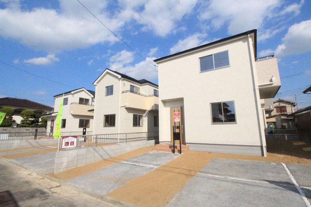 岡山県岡山市中区山崎の新築 一戸建て 分譲住宅の外観写真
