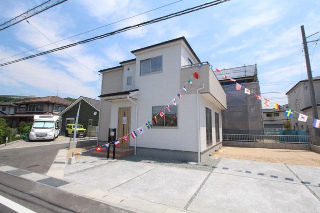 岡山県倉敷市青江の新築 一戸建て 分譲住宅の外観写真
