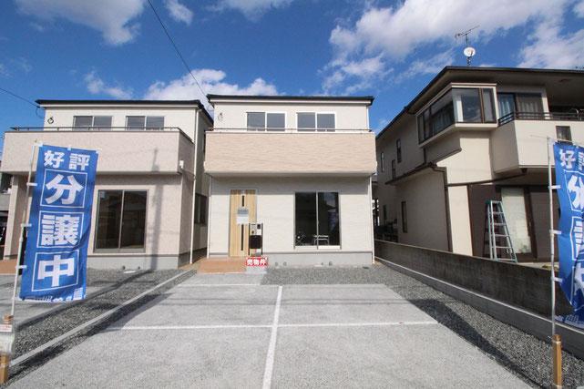 岡山県岡山市南区福成の新築 一戸建て 分譲住宅の外観写真