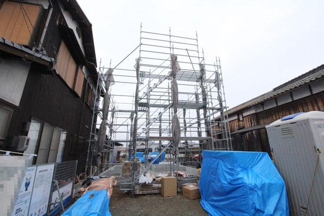 岡山県倉敷市西阿知町西原の新築 一戸建て 分譲住宅の外観写真