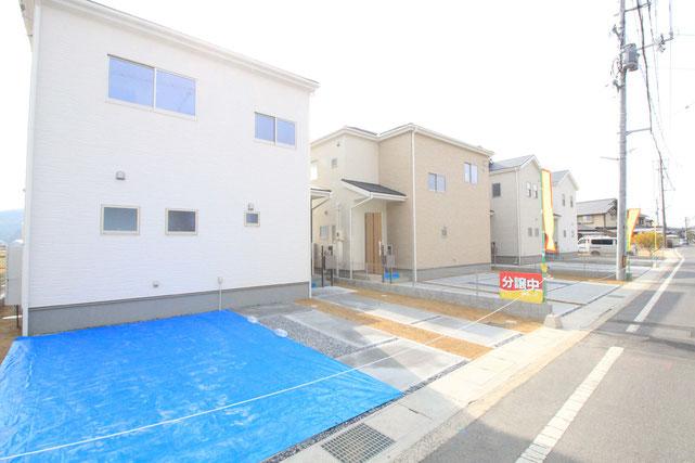 岡山県倉敷市松島の新築 一戸建て 分譲住宅の外観写真