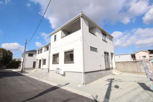 岡山県倉敷市児島小川1丁目の新築 一戸建て 分譲住宅の外観写真