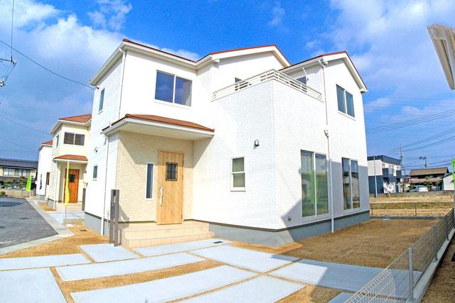 倉敷市船穂町船穂の新築 一戸建て 分譲住宅の外観写真