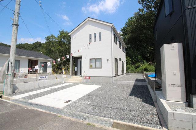 岡山県都窪郡早島町若宮の新築 一戸建て 分譲住宅の外観写真