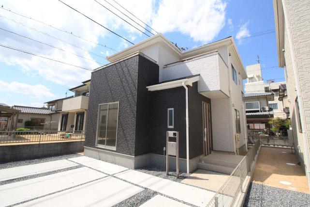 岡山市東区益野町の新築 一戸建て 分譲住宅の外観写真