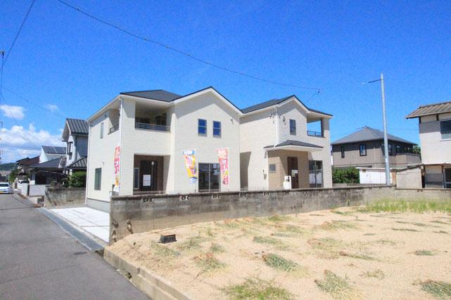 岡山市東区東平島の新築 一戸建て 分譲住宅の外観写真