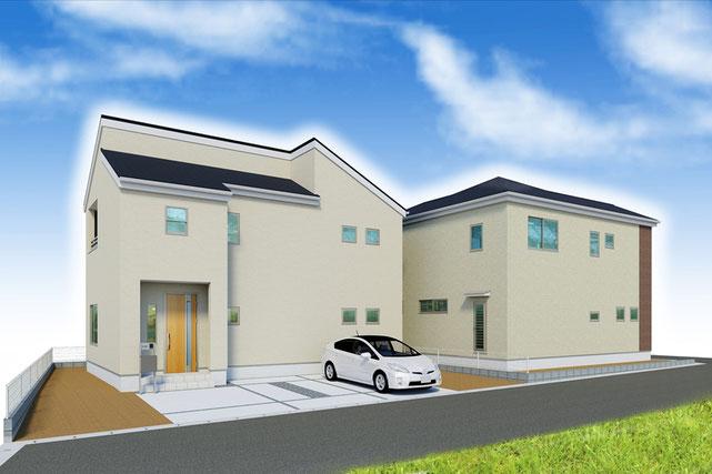 岡山県倉敷市児島味野4丁目の新築 一戸建て 分譲住宅の外観写真