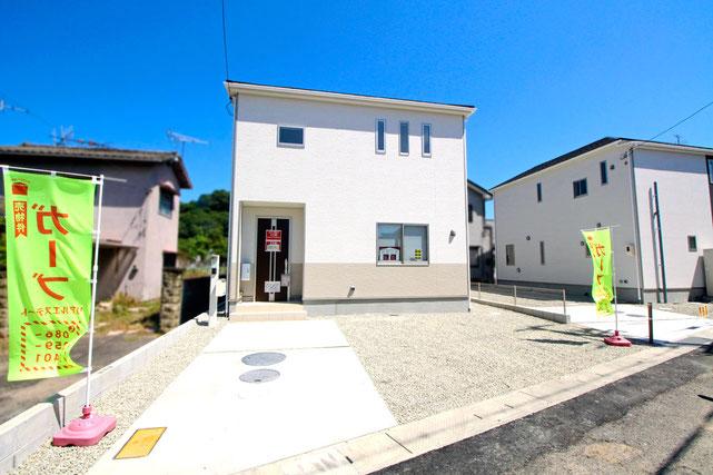 岡山県岡山市東区藤井の新築 一戸建て 分譲住宅の外観写真