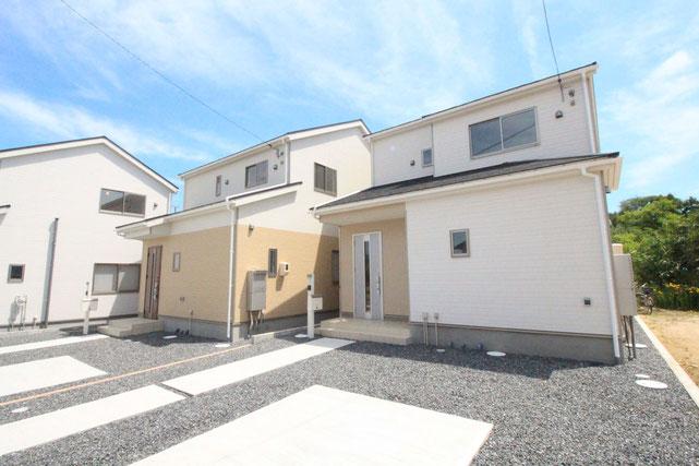 岡山県倉敷市玉島柏島の新築 一戸建て 分譲住宅の外観写真