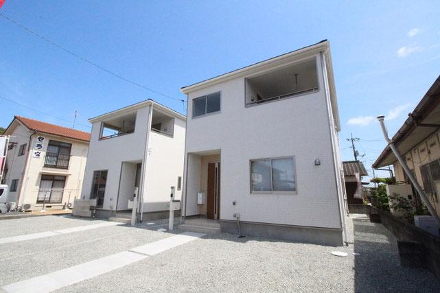 岡山県岡山市東区西大寺松崎の新築 一戸建て 分譲住宅の外観写真