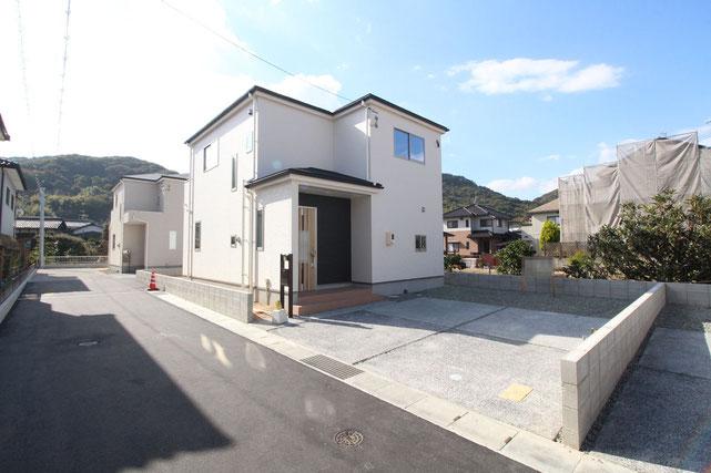 岡山県岡山市南区川張の新築 一戸建て 分譲住宅の外観写真