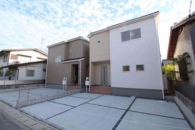 岡山県岡山市南区西市の新築 一戸建て 分譲住宅の外観写真