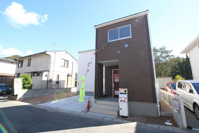 岡山県玉野市槌ケ原の新築 一戸建て 分譲住宅の外観写真