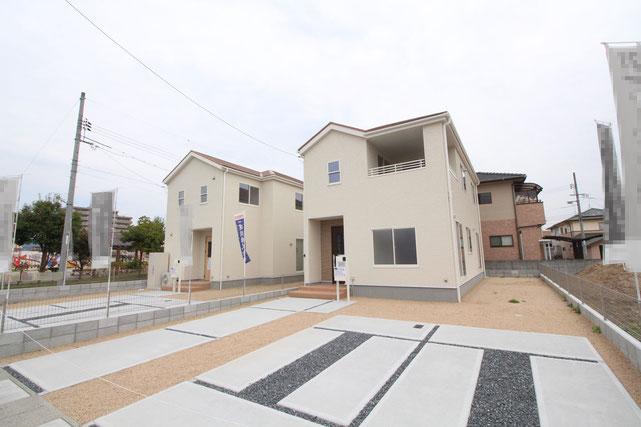 岡山県総社市駅南1丁目の新築 一戸建て 分譲住宅の外観写真