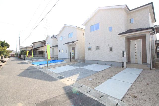 岡山県岡山市中区福泊の新築 一戸建て 分譲住宅の外観写真