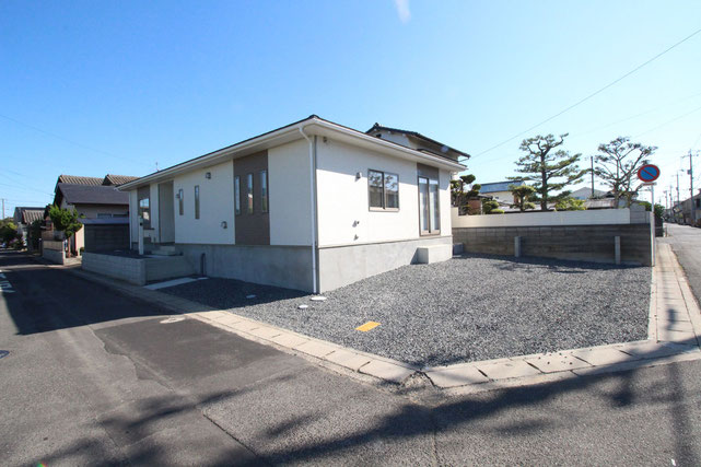 岡山県岡山市東区益野町の新築 一戸建て 分譲住宅の外観写真